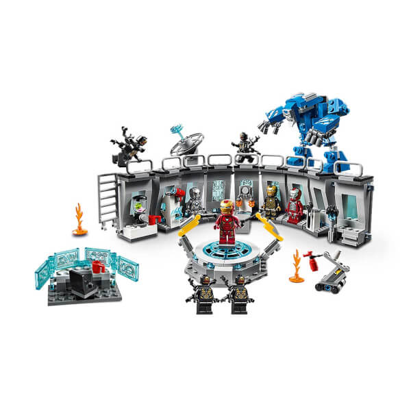 lego marvel avengers iron man hall of armor 76125 - 600×600