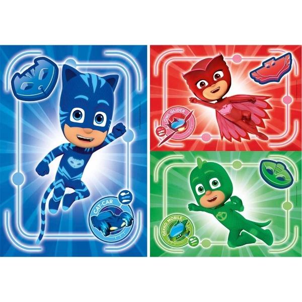 3 x 48 Parça Puzzle : PijaMaskeliler