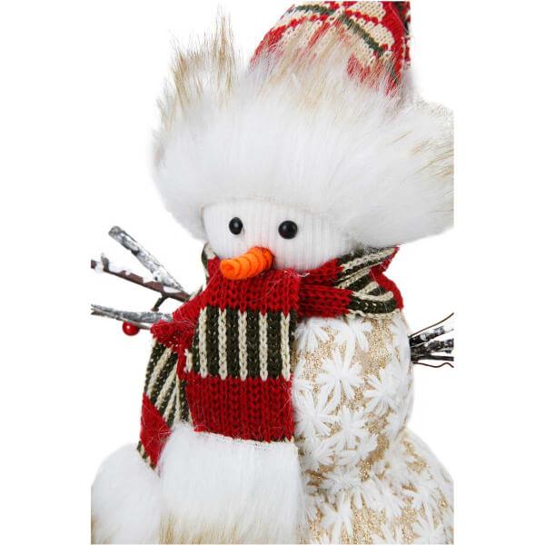 Yılbaşı Kardan Adam Dekor Süsü 32 cm.