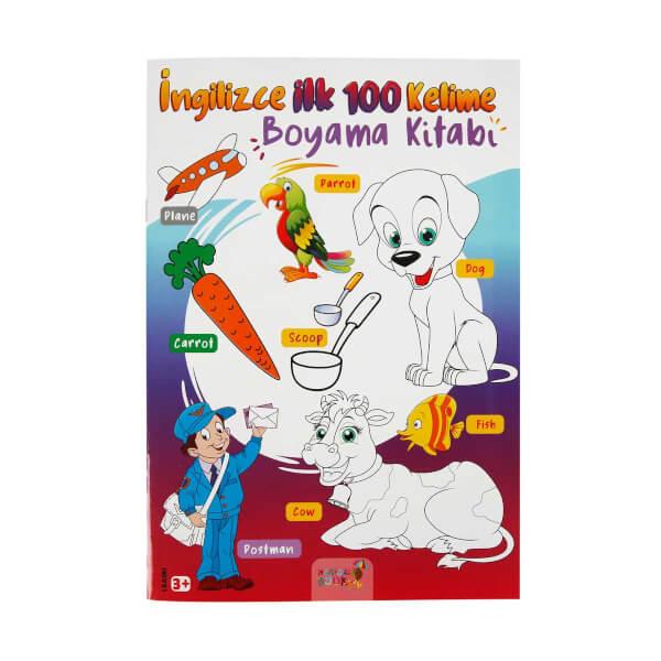 Ingilizce Ilk 100 Kelime Boyama Kitabi Toyzz Shop