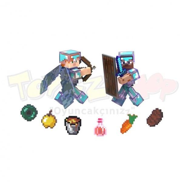 Minecraft Deluxe Figürleri Steve ve Alex