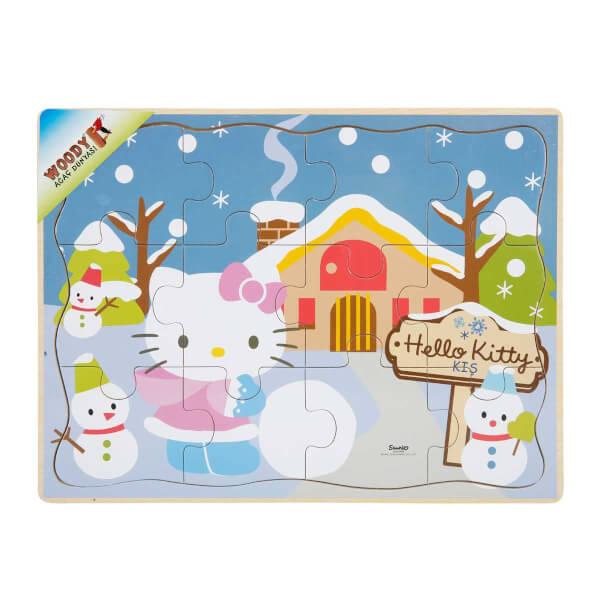 Hello Kitty Mevsimler Ahşap Puzzle
