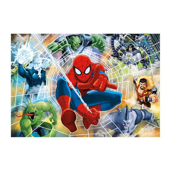 104 Parça Puzzle : Fluorescent Spider Man