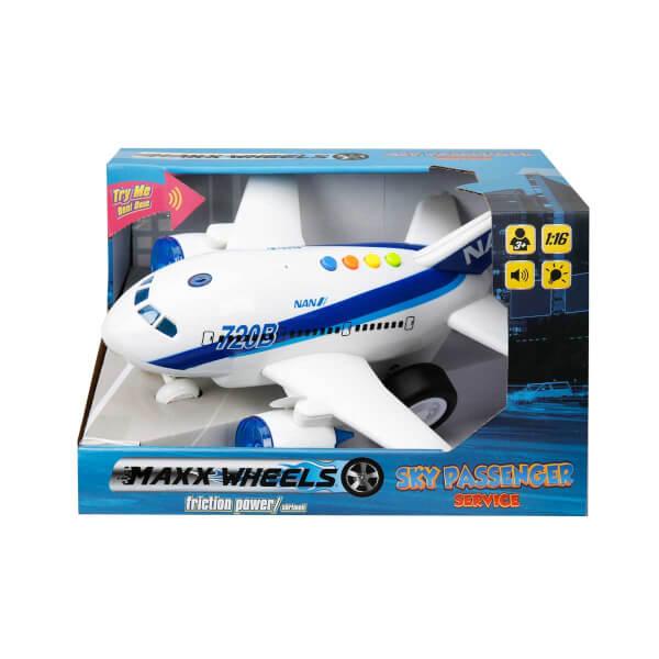 1:16 Maxx Wheels Sesli ve Işıklı Uçak