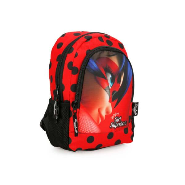 Miraculous Ladybug Anaokul Çantası Kırmızı-Siyah 2021