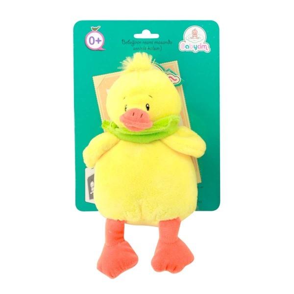 Babycim Oturan Çıngıraklı Peluş Ördek