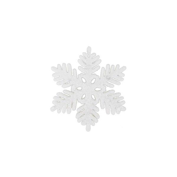 Yılbaşı Ağaç Süsü 6'lı Beyaz Kar Motifi 10 cm.