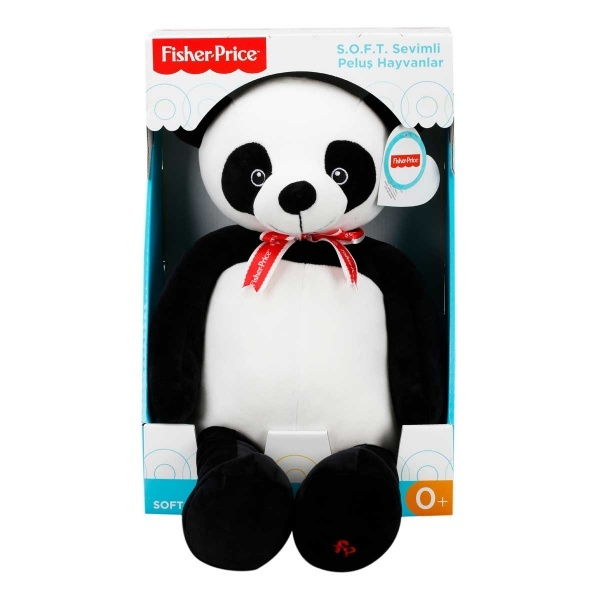 Fisher Price Soft Peluş Oturan Panda 50 cm.