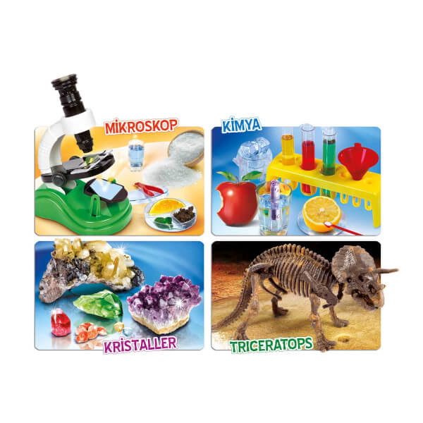 Bilim Laboratuvarı - Kimya, Mikroskop, Kristaller, Triceratops