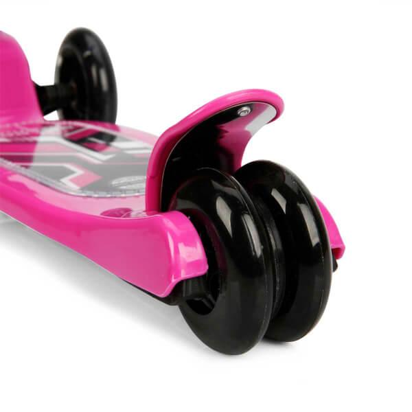 Power Led Işıklı 3 Tekerlekli Katlanabilir Pembe Scooter