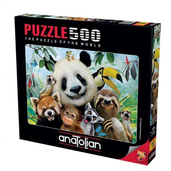 500 Parça Puzzle : Hayvanat Bahçesi Selfie