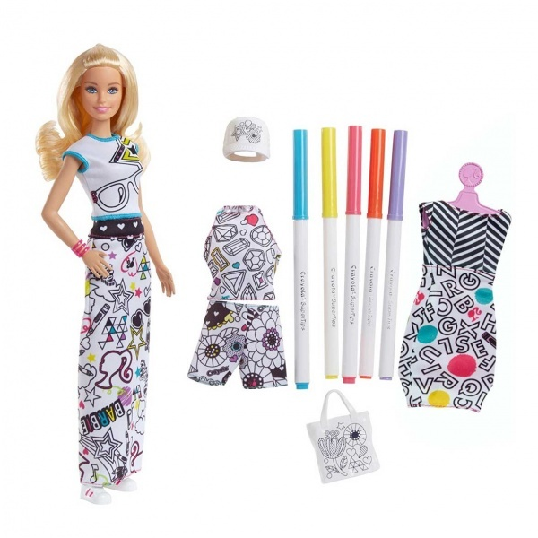 Barbie ile Kıyafet Tasarla Oyun Seti FPH90