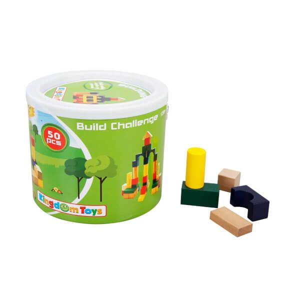 Woody Ahşap Bloklar Şato 50 Parça