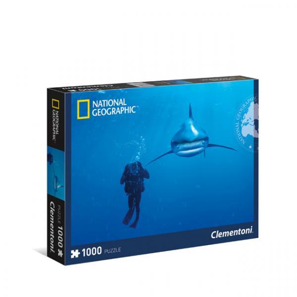 1000 Parça Puzzle : N.Geographic Whitetip Shark