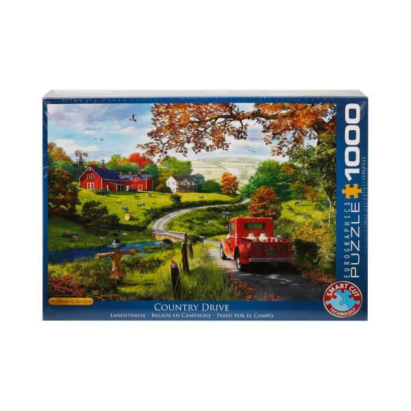1000 Parça Puzzle : Country Drive - Dominic Davidson