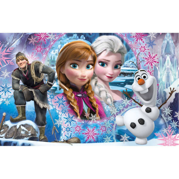 2 x 60 Parça Puzzle : Frozen