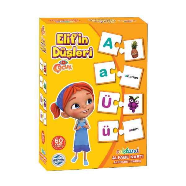 Elif'in Düşleri Alfabe Öğreniyorum Birleştirme Kartı