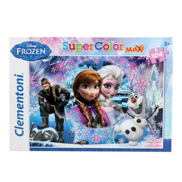104 Parça Maxi Puzzle : Frozen Queen Of The North Mountain