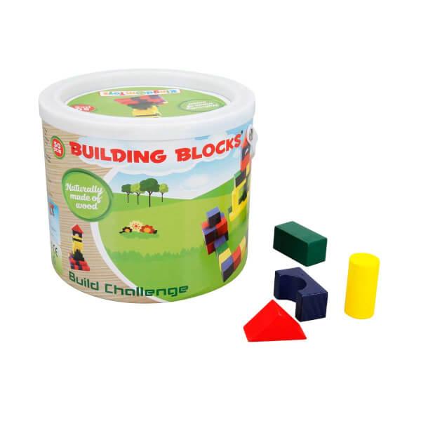 Woody Ahşap Bloklar Kule 50 Parça