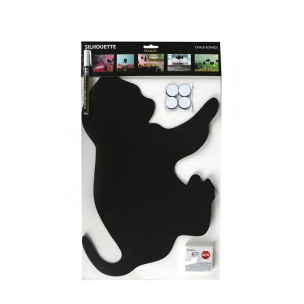 Kedi Şekilli Duvar Aksesuarı 30x50 cm.