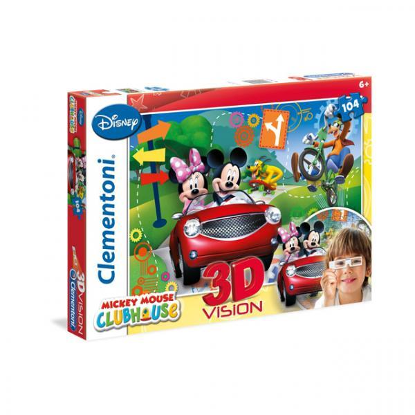 104 Parça 3D Puzzle : Mickey Mouse