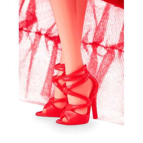 Mutlu Yıllar 2018 Barbie - Sarışın Kırmızı Elbiseli FRN69