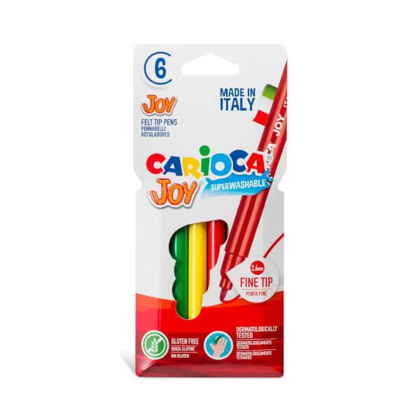 Carioca Joy Yıkanabilir Keçeli Boya Kalemi 6'lı