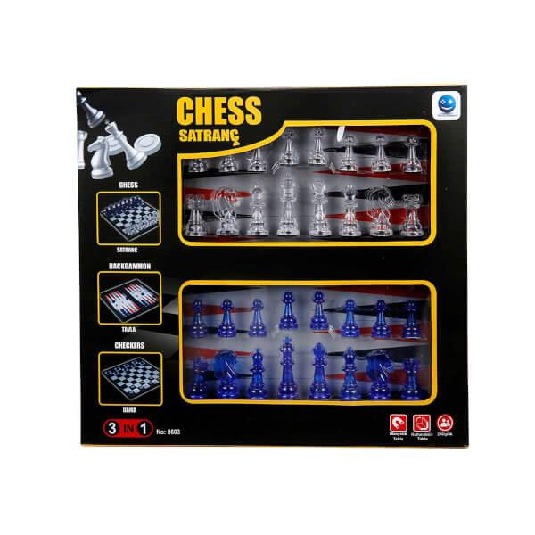 Satranç Dama Tavla 3'lü Oyun