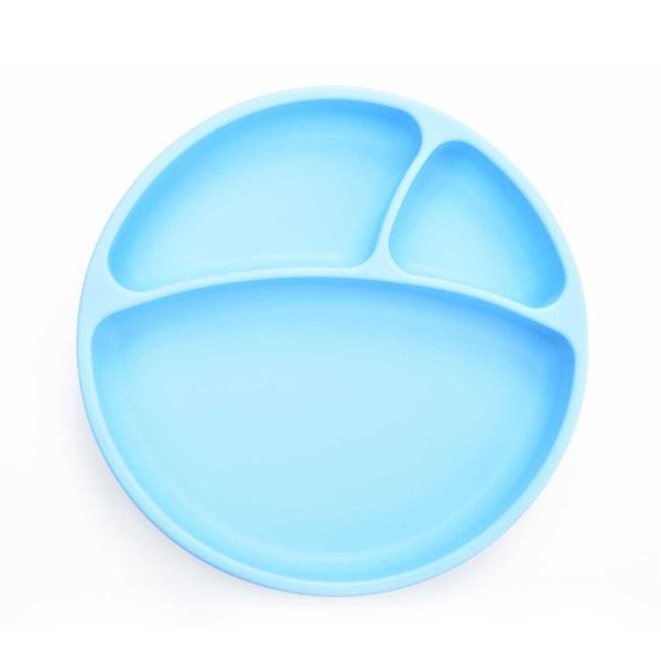 OiOi Vakum Tabanlı Silikon Mavi Tabak