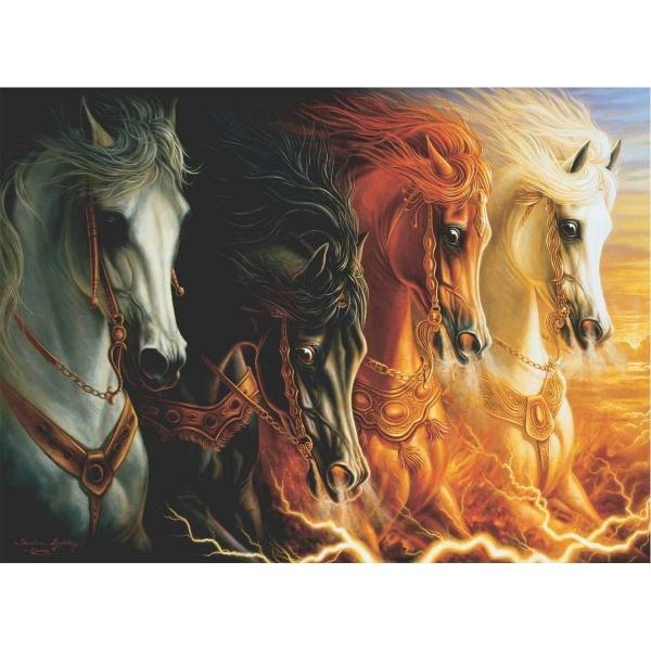 1000 Parça Puzzle : Mahşerin Dört Atlısı