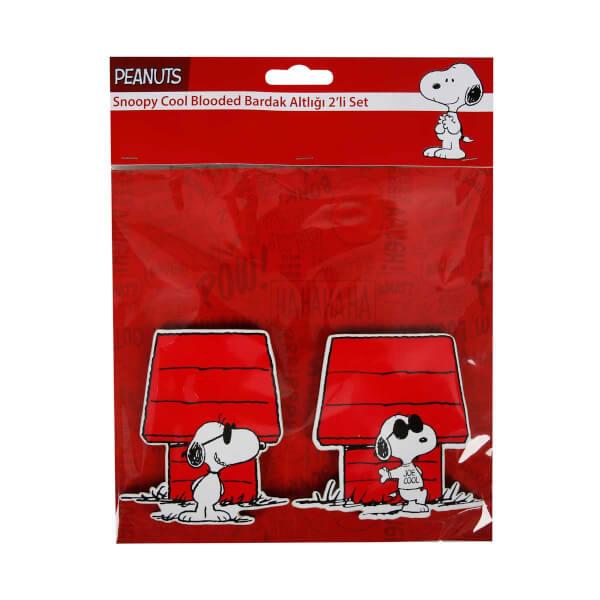 Snoopy Cool Blooded Bardak Altlığı 2'li Set