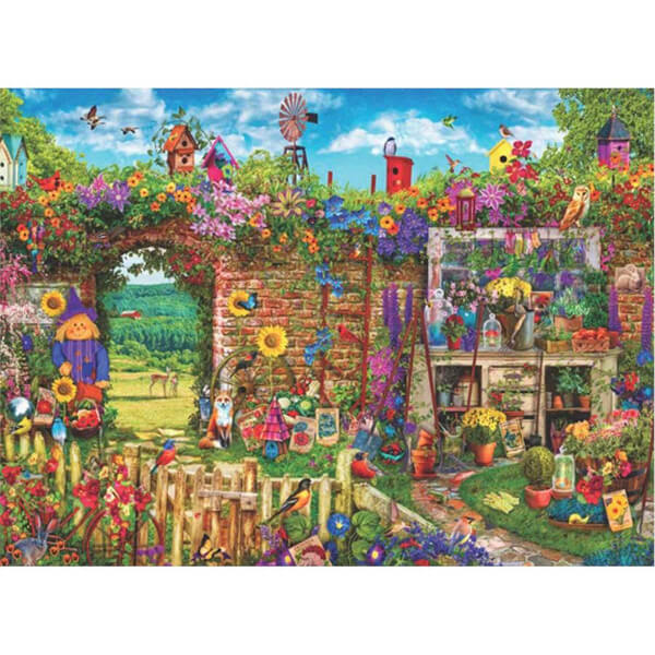 1000 Parça Puzzle : Kalabalık Bahçe