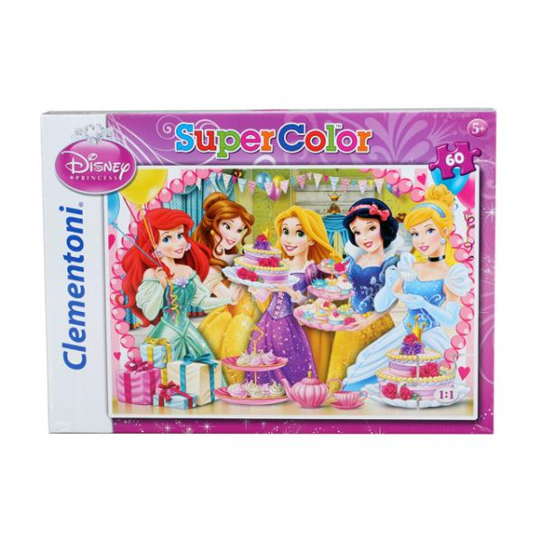 60 Parça Puzzle : Disney Princess Royal Tea Party
