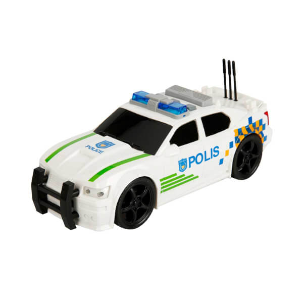 1 20 Maxx Wheels Sesli Ve Isikli Polis Arabasi 19 Cm Beyaz