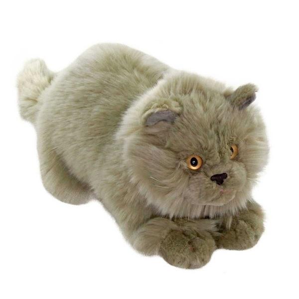 Yatan Kedi Gri Peluş 26 cm.