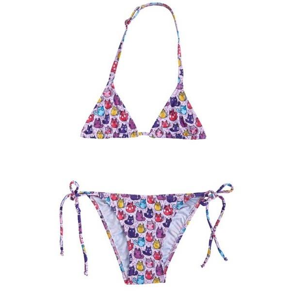 Slipstop Kız Çocuk Cup Cats Bikini