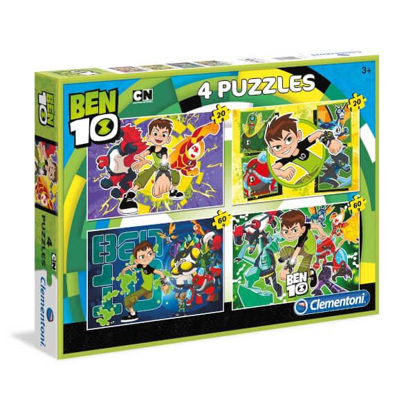 2 x 20+2 x 60 Parça Puzzle : Ben10
