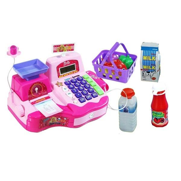 Barbie Mikrofonlu Market Kasası Seti