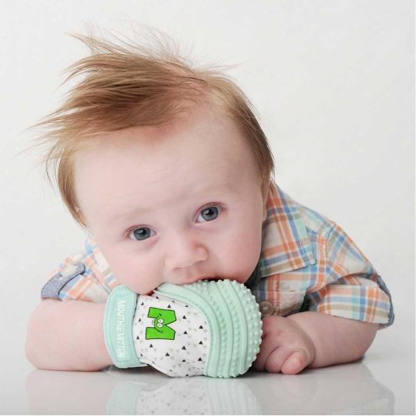 Mouthie Mitten Diş Kaşıyıcı Nane Yeşili Eldiven