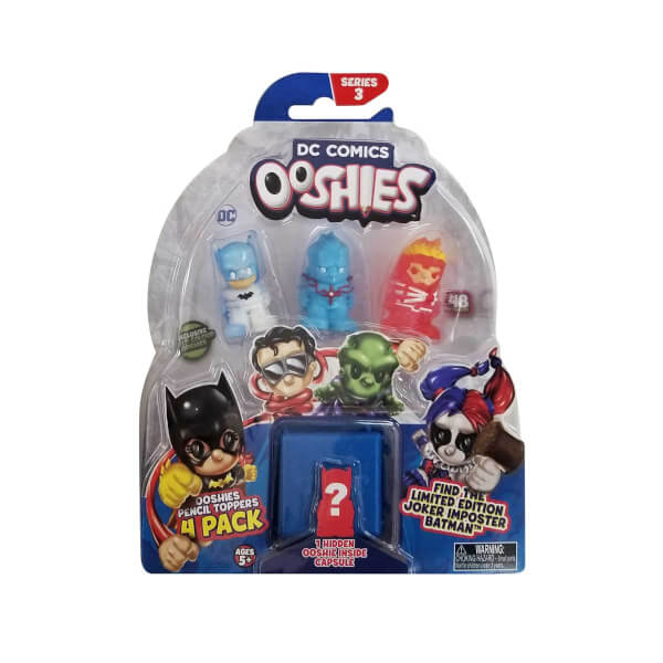 Ooshies DC Comics Mini Figür 4'lü Paket