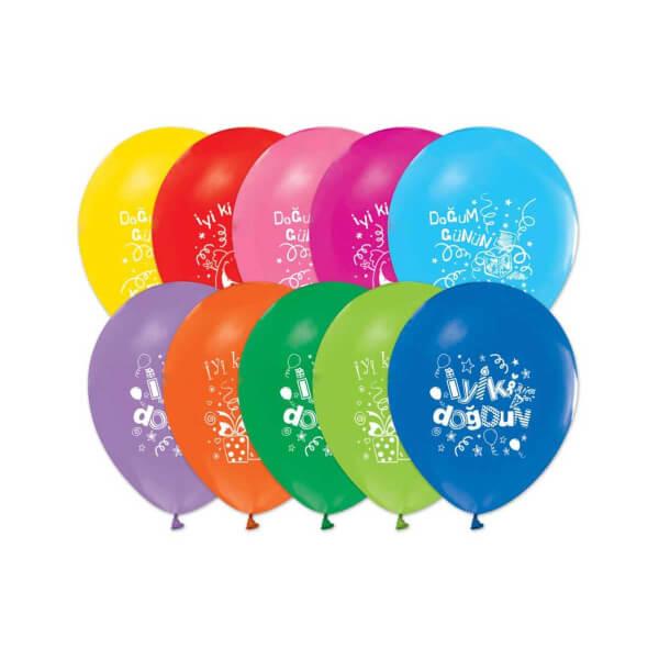 Doğum Günü Baskılı Balon 16'lı