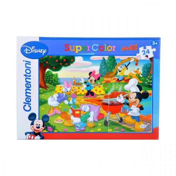 24 Parça Puzzle : Mickey Piknikte