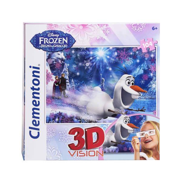 104 Parça 3D Puzzle : Frozen 20602