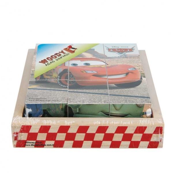 Cars Ahşap Küp Puzzle