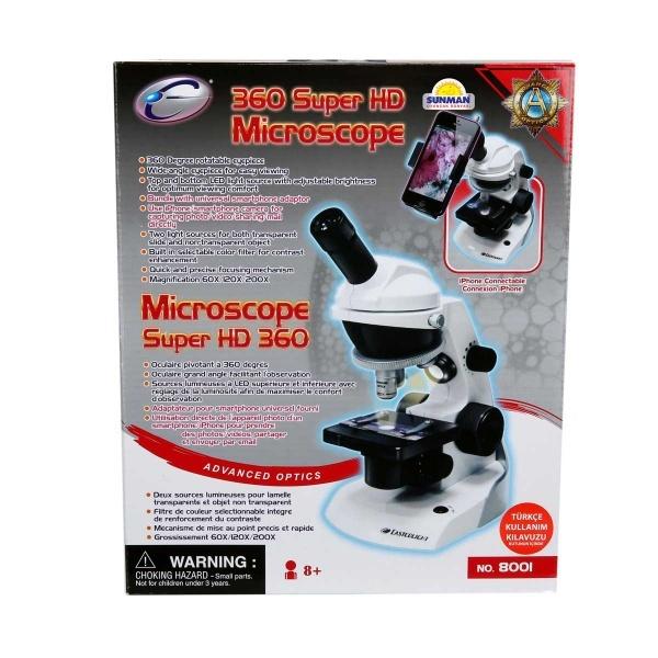 Mikroskop 360 Süper HD