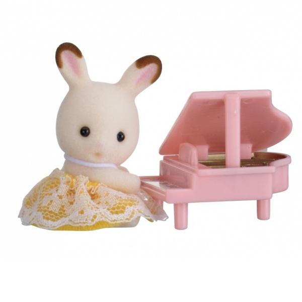 Sylvanian Families Bebek Tavşan ve Piyanosu