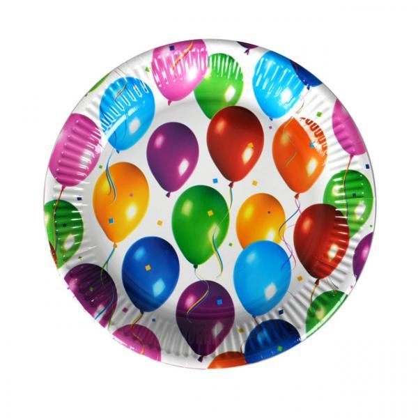 Balons 8'li Tabak 23 cm.