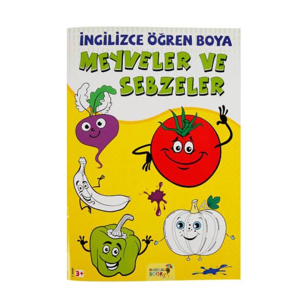Ingilizce Ogren Boya Meyveler Ve Sebzeler Toyzz Shop