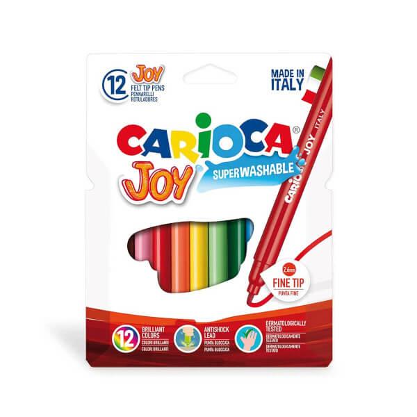 Carioca Joy Yıkanabilir Keçeli Boya Kalemi 12'li