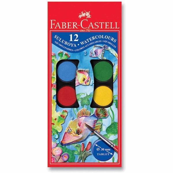 Faber Castell Redline Sulu Boya Büyük Boy 12 Renk